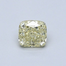 0.58-Carat Light Yellow Cushion Cut Diamond