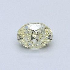 0.50-Carat Light Yellow Oval Cut Diamond