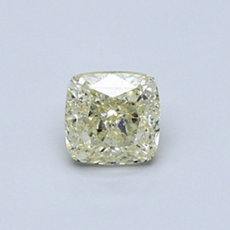 0.56-Carat Light Yellow Cushion Cut Diamond