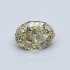 0.70-Carat Brownish Yellow Oval Cut Diamond