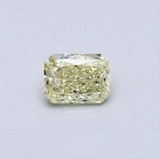 0,35-Carat Light Yellow Radiant Cut Diamond