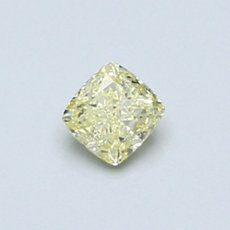 0.41-Carat Yellow Cushion Cut Diamond