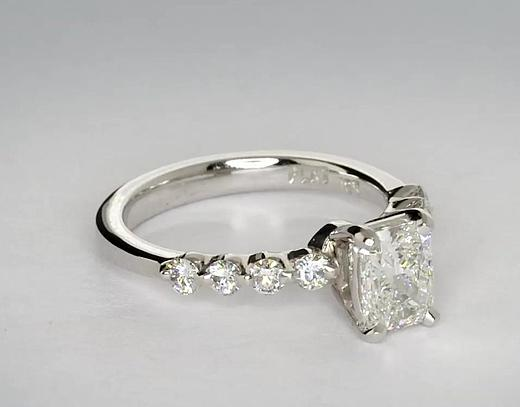 0.71 Carat Floating Diamond Engagement Ring