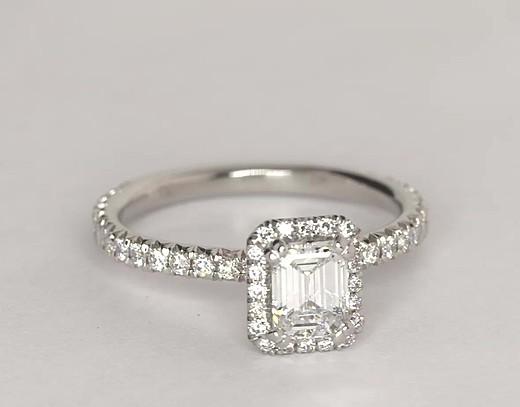0.65 ct. Emerald-Cut D-Color, IF-Clarity, Signature Ideal-Cut