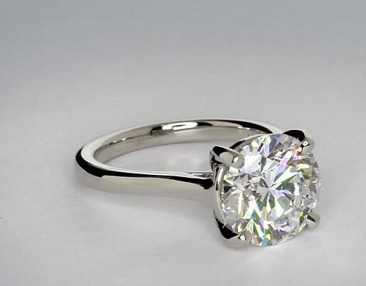 3 5 Carat Diamond Petite Trellis Solitaire Engagement Ring