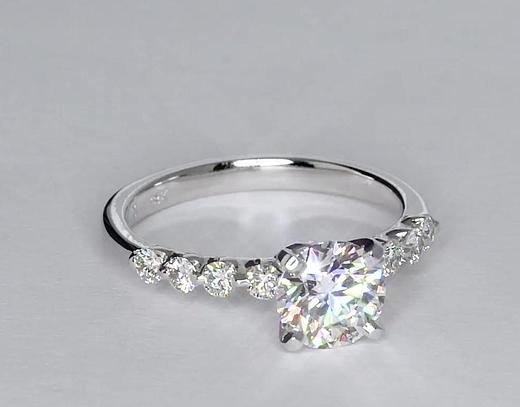 Bague de fiançailles diamant flottant 1 carat