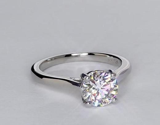 1.47 Carat Petite Trellis Solitaire Engagement Ring