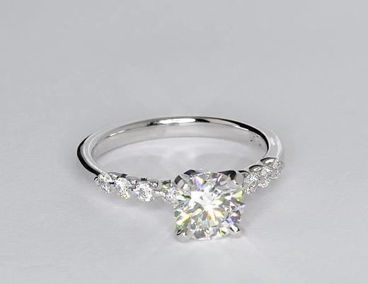 1,28 carat Bague de fiançailles diamant flottant