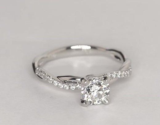 0.7 ct. Cushion-Cut F-Color, VS2-Clarity, Signature Ideal-Cut