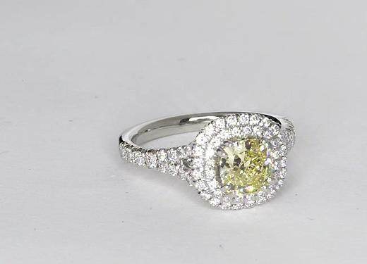 1.01 Carat Duet Halo Diamond Engagement Ring