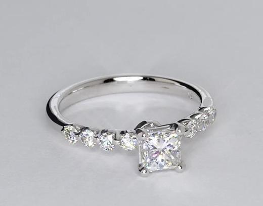 0.7 Carat Floating Diamond Engagement Ring