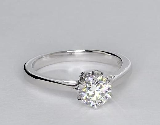 0.73 Carat Leaf Solitaire Engagement Ring