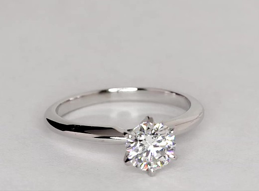 1 Carat Classic Six-Prong Solitaire Engagement Ring