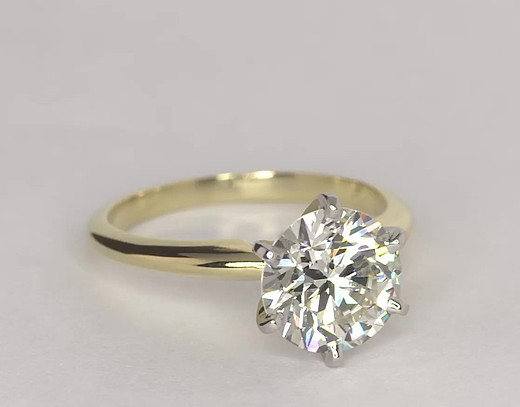 Carat Diamond Ring Yellow Gold