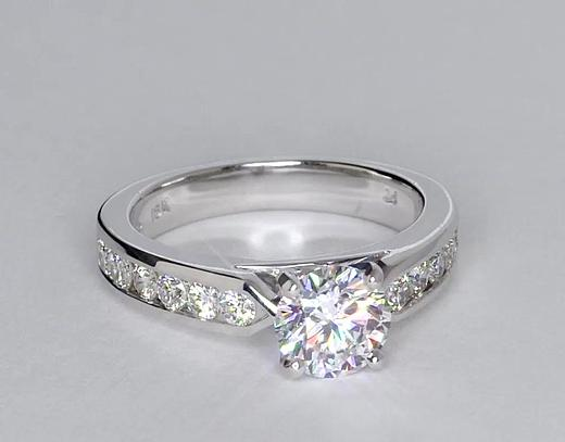 1 Carat Channel Set Diamond Engagement Ring
