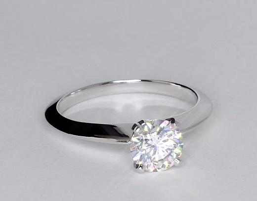 1 Carat Knife Edge Solitaire Engagement Ring