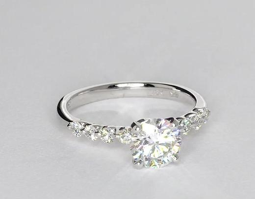 1.06 Carat Floating Diamond Engagement Ring