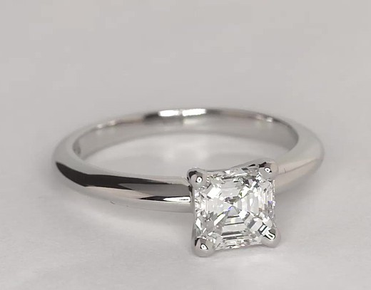 1.0 ct. Asscher-Cut G-Color, VVS1-Clarity, Signature Ideal-Cut