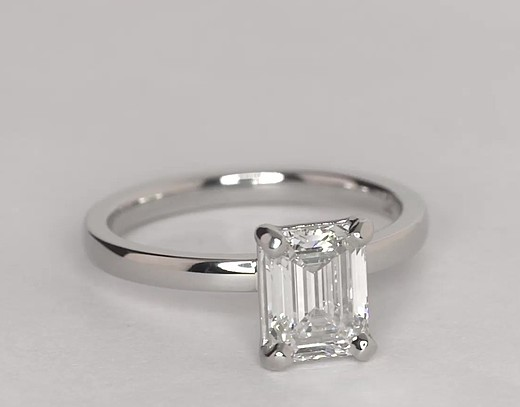1.35 ct. Emerald-Cut H-Color, VVS1-Clarity, Very Good-Cut