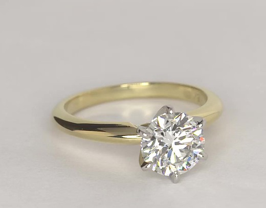 Ct Yellow Gold Solitaire Diamond Ring