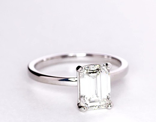 2.03 Carat Low Dome Comfort Fit Solitaire Engagement Ring