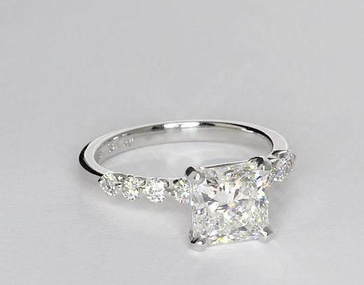 2,02 carat Bague de fiançailles diamant flottant