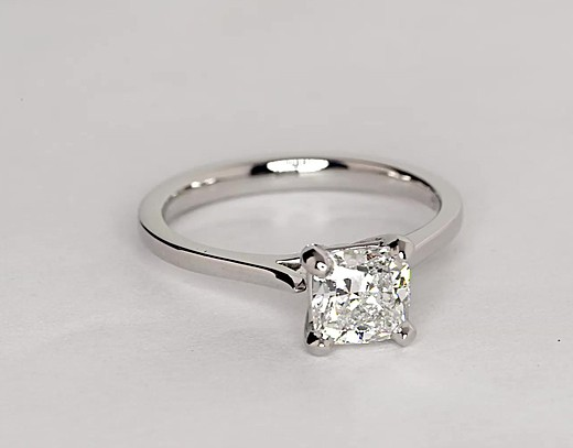 1.09 Carat Petite Cathedral Solitaire Engagement Ring