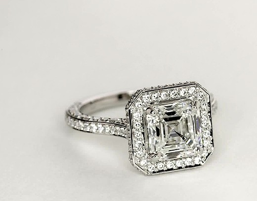 2.33 ct. Asscher-Cut G-Colour, VS1-Clarity, Very Good-Cut