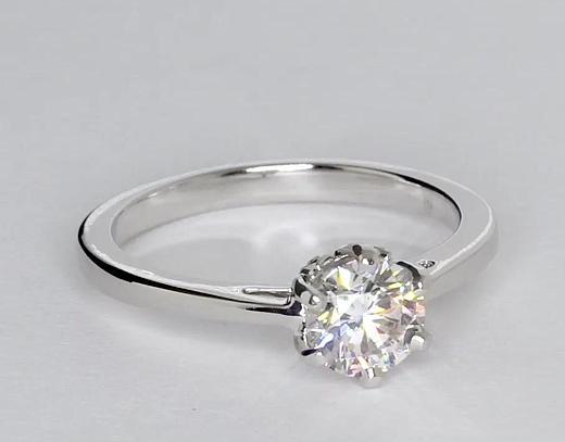 0.82 Carat Leaf Solitaire Engagement Ring