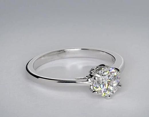 1.01 Carat Leaf Solitaire Engagement Ring