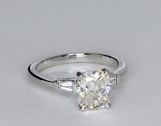 2 06 Carat Diamond Tapered Baguette Engagement Ring