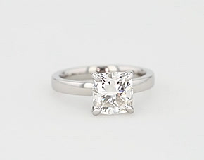 Low Dome Comfort Fit Solitaire Engagement Ring in 14k White Gold (2.5 mm)