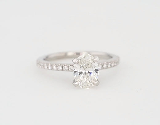 1.04 Carat Riviera Pavé Diamond Engagement Ring