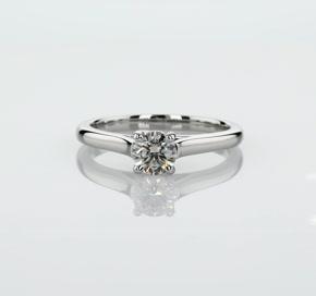 铂金小凉亭单石订婚戒指