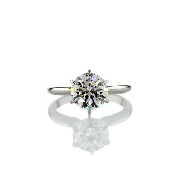 2 Carat Classic Six-Prong Solitaire Engagement Ring