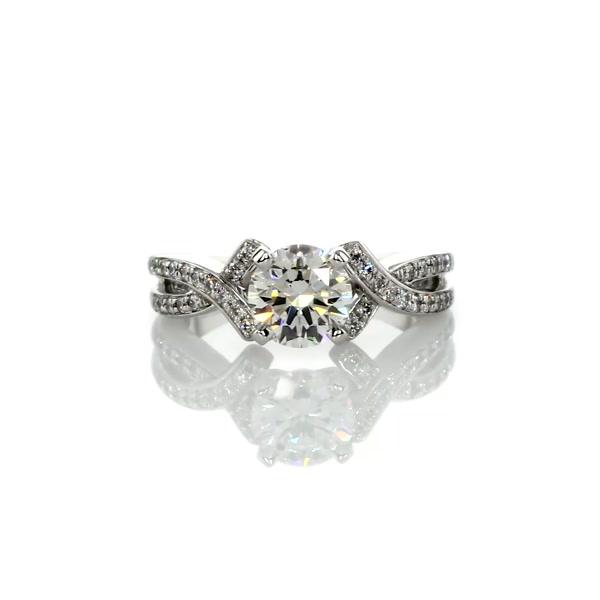 1.15 Carat Intertwined Pavé Diamond Engagement Ring