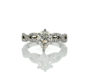 Infinity Twist Micropavé Diamond Engagement Ring in Platinum (0.25 ct. tw.)