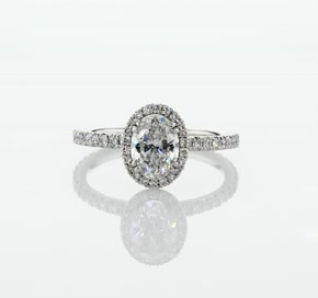 Blue Nile Studio Oval Cut Heiress Halo Diamond Engagement Ring in Platinum