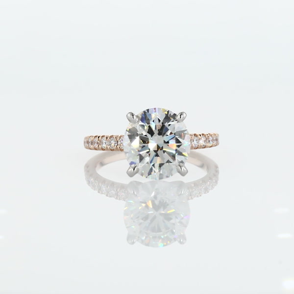 2.99 Carat French Pavé Diamond Engagement Ring
