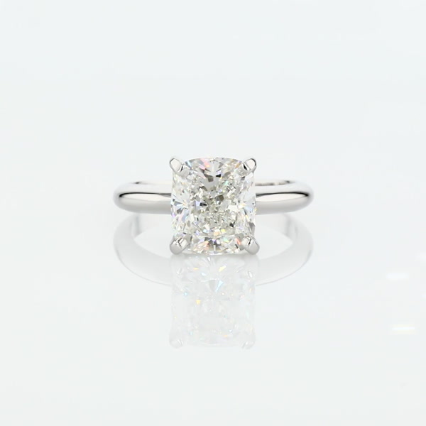 3.02 Carat Classic Four Prong Solitaire Engagement Ring