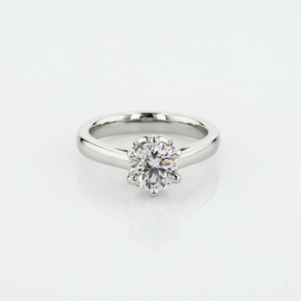 1 Carat Leaf Solitaire Engagement Ring
