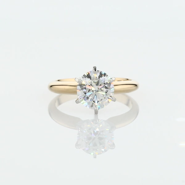 1.55 Carat Classic Six Claw Solitaire Engagement Ring