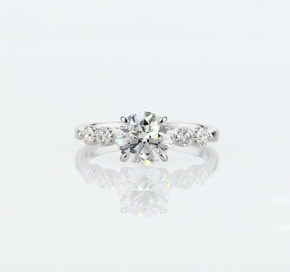 The Gallery Collection™ Floating Diamond Engagement Ring in Platinum (1/3 ct. tw.)