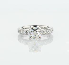 Riviera Pavé Diamond Engagement Ring in Platinum (5/8 ct. tw.)