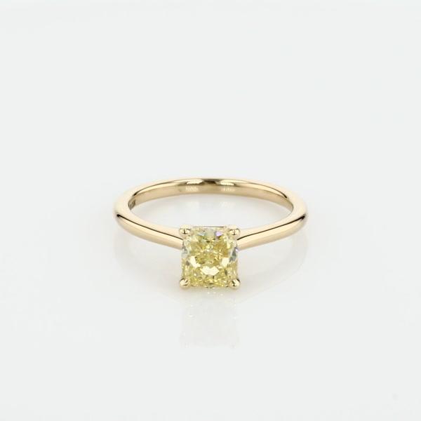 1.01 克拉小巧单石订婚戒指