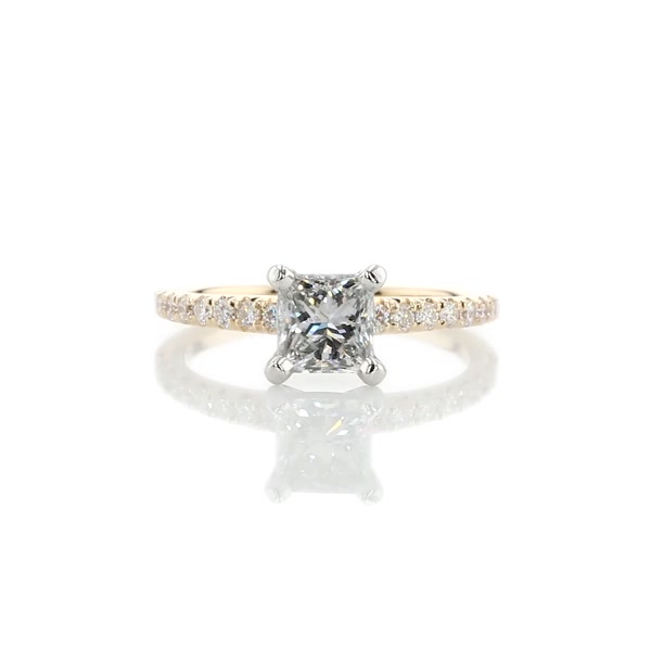 1.01 Carat French Pavé Diamond Engagement Ring