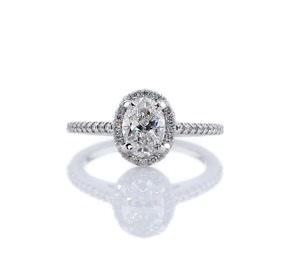铂金椭圆光环钻石订婚戒指对戒