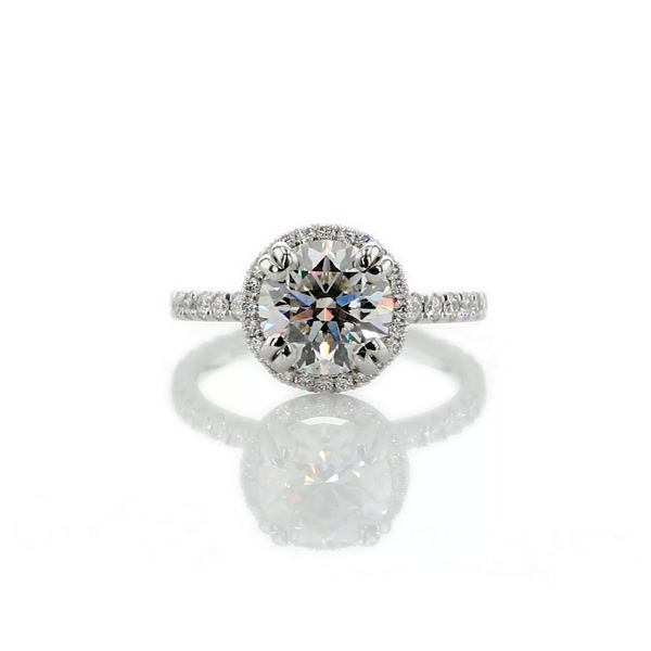 1.6 Carat Blue Nile Studio Heiress Halo Diamond Engagement Ring