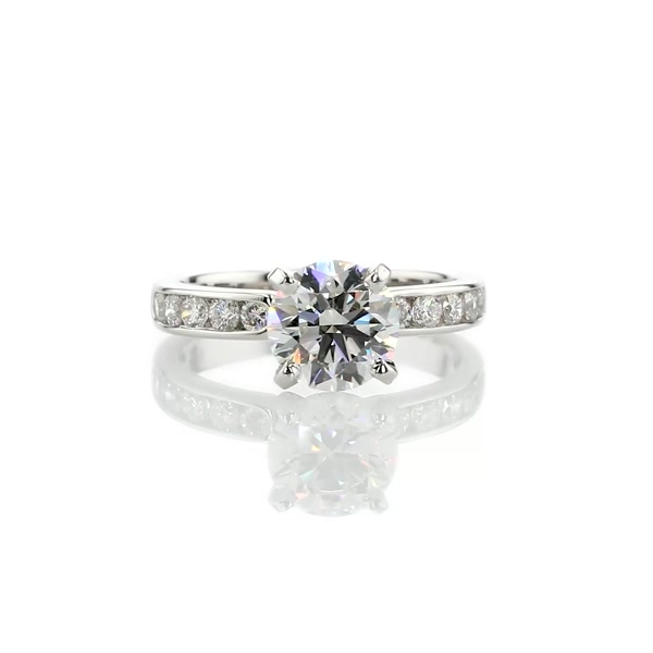 1.71 Carat Channel Set Diamond Engagement Ring