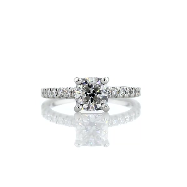 1,3 Carat French Pavé Diamond Engagement Ring